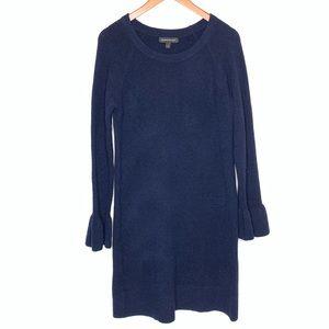 Banana Republic Wool Blend Navy Blue Tunic Dress M